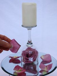 wine glass centerpieces | ... to do is light the candle and admire your candle wedding centerpiece