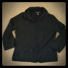 Banana Republic black cardigan sweater petite PXS Banana Republic women's black angora sweater in petite size XS (PXS). 3/4 sleeves and hook and eye closure up the front. Soft material and beautiful detail. Excellent condition, only worn once! Banana Republic Sweaters Cardigans