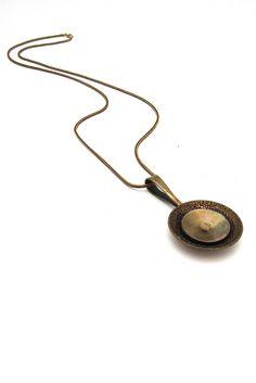 Alton Sweden - vintage bronze pendant necklace designed by KE Palmberg
