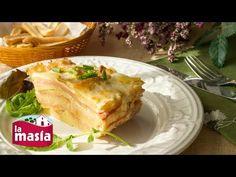 ▶ Receta Fácil de Lasaña de Patata con Jamón y Queso - YouTube
