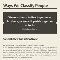 ways to classify people