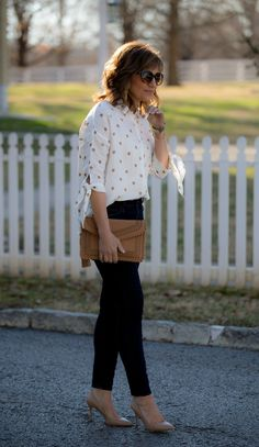 Over 40 fashion blogger, Cyndi Spivey, styling an early spring outfit.
