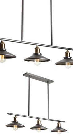 Sometimes one pendant just isn't enough. The Tyson 3-Light Pendant Bar totally gets that. Each bulb in this trio of matching lights is…