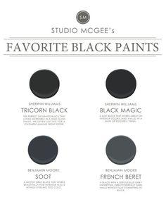 Ask Studio McGee: Our Favorite Black Paints | Studio Blog - STUDIO MCGEE | Bloglovin'