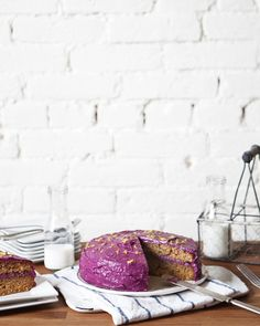 Earl Grey Tea Cake with Blueberry Cream Cheese Frosting