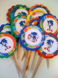 Sonic Cupcake Toppers. $6.50, via Etsy.