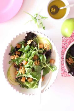 quince salad with apple and walnuts