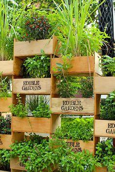 stacked crate vertical garden