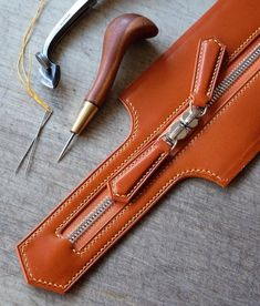 Picture Only Leather zipper overlay