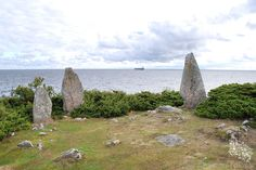 Bauta Stones from ancient times. Bornholm Island between Sweden and Denmark | Stammershalle Bautasteine