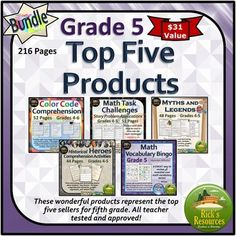 Top Five Products Grade 5