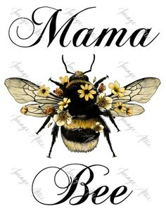 Honey Bee Tattoo, Bumble Bee Tattoo, Mama Image, Big Bee, Bee Art, Bee Theme, Bee Happy, Bees Knees, Queen Bees