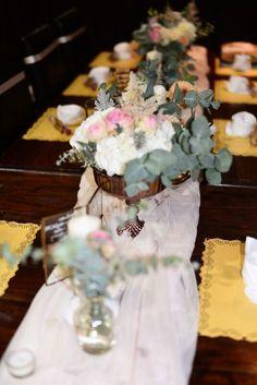 Tischdeko Hochzeit rustic