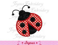 Instant Download Ladybug Embroidery Machine by JakkisDesigns