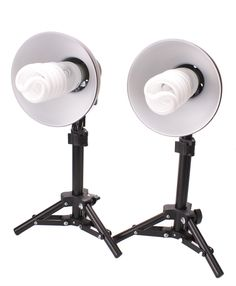 StudioPRO 300W Photography Table Top Photo Studio Lighting Kit - 2 Light Kit