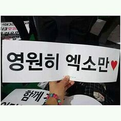 """151010 EXO-Love Concert in Dome banner """"Only EXO Forever"""""""