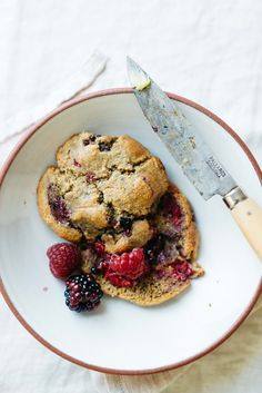 Grain-Free Summer Berry Scones | dolly and oatmeal
