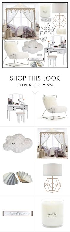 """""""Home Sweet Home: My Happy Place"""" by tlb0318 ❤ liked on Polyvore featuring interior, interiors, interior design, home, home decor, interior decorating, Mitchell Gold + Bob Williams, PBteen, Mina Victory and bedroom"""