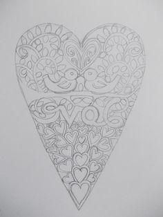 Original hand drawn 'love birds' papercut design by Nina Byers