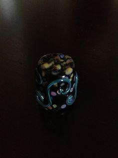 Crystal Gilbert Lampwork Design Thimble (my collection)