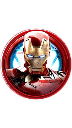 Iron Man Avengers 8 Round Circle Edible Frosting Icing