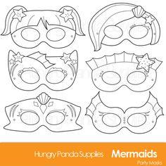 Mermaid Coloring Masks, mermaid mask, mermaids masks, under the sea, mermaid costume, fish mask