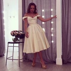 Charming Prom Dress, Knee Length Homecoming Dress, Elegant
