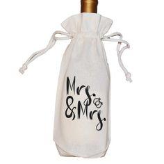 Mrs and Mrs | Wine Bag
