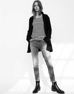 gilet col chle marinire boots noires jean dlav la meilleure tenue de