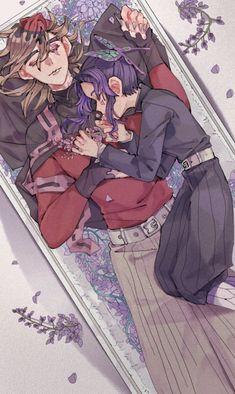 Douma x Shinobu Anime Demon, Manga Anime, Anime Art, Demon Slayer, Slayer Anime, Fairy Tail Gray, Demon Hunter, Undertale Cute, Anime Stickers