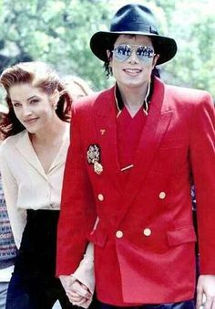 At Neverland with then husband, MJ