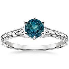 18K White Gold Sapphire Hudson Ring from Brilliant Earth
