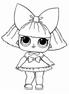 Lol Little Sisters Coloring Pages from Lol Doll Coloring Pages Printable. Toys LOL are treading the peak of popularity among children throughout the world. Even though the doll inside the LOL Surprise ball is not exactly rev. Puppy Coloring Pages, Free Coloring Sheets, Cartoon Coloring Pages, Free Printable Coloring Pages, Colouring Pages, Coloring Pages For Kids, Coloring Books, Chibi Kawaii, Valentine Coloring Pages