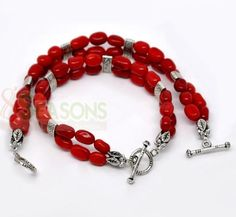 Red Coral Beads Bracelets