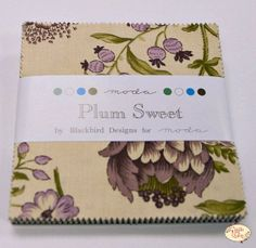 Plum Sweet Charm Pack from Moda Fabrics by Blackbird Designs Blackbird Designs, Charm Pack, Cotton Quilts, Etsy Seller, Weaving, Diy Crafts, Plum, Handmade Gifts, Sweet