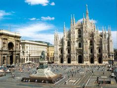 Milan Italy. So beautiful there. If I'm not mistaken that's the cathedral we were allowed to walk on the roof of. It was sooo beautiful inside.