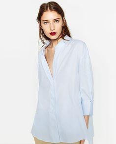 Image 4 de CHEMISE LONGUE ASYMÉTRIQUE de Zara