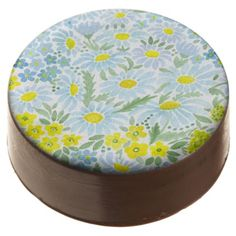 #Watercolor daisies chocolate covered oreo - #Chocolates #Treats #chocolate