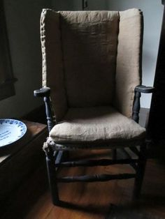 Make-do chair 18th century chair with early linsey