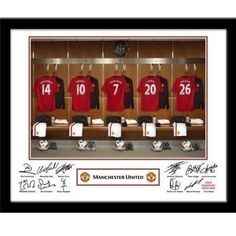 Personalised Manchester United Dressing Room Framed Photo Perfect for #FathersDay #FathersDayGifts #Football #United #MUFC #FootballGifts #PersonalisedGifts £29.99