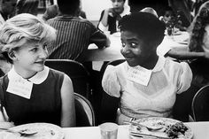 Students chatting during a school-integration event in Virginia. Photo: Eve Arnold (1958)