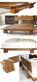 Wakayama Platform Bed - Natural Finish - tatamiroom.com