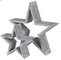 Wooden Star Decoration - Options Available