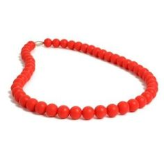 Chewbeads Jane Necklace - Cherry Red $29.50