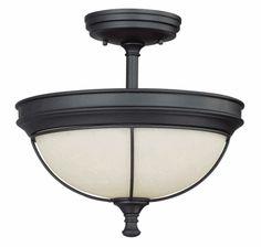 "Semi-Flush Product | Salem semi-flush mount light fixture with 13.75"" inch diameter ..."