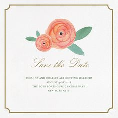 Pocket Full of Breezy Flowers (Save the Date) - Paperless Post