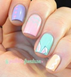 pastel-easter-nails – The Best Nail Designs – Nail Polish Colors & Trends Easter Nail Designs, Nail Designs Spring, Nail Art Designs, Nails Design, Easter Color Nails, Easter Nail Art, Polish Easter, Shellac Nails, My Nails