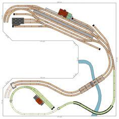 MMC - Meisesmodellbahncenter - Märklin, Faller, Roco, Viessmann - C-Gleisanlage Trossingen 300x300x300cm (U-Form)