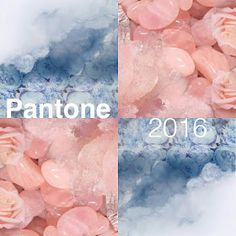 PANTONE Color of the Year 2016:  Rose Quartz and Serenity blue.