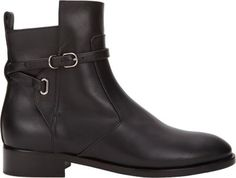 Balenciaga Ankle-Wrap Jodhpur Boots at Barneys New York